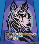 Tribal Wolf C2C (Corner to Corner) Queen Sized Blanket Graphghan Crochet Pattern - PDF Download