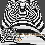 Tunneling In (or Out) Mini C2C (Modified Corner to Corner) Throw Blanket Graphghan Crochet Pattern - PDF Download