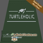 Turtleholic C2C (Corner to Corner) Throw Blanket Graphghan Crochet Pattern