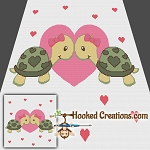 Turtlely In Love Girls SC (Single Crochet) Throw Blanket Graphghan Crochet Pattern