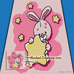 Twinkle Bunny SC (Single Crochet) Baby Blanket Graphghan Crochet Pattern - PDF Download