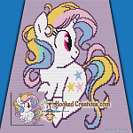 Twinkle Twinkle Little Unicorn Mini C2C (Modified Corner to Corner) Throw Blanket Graphghan Crochet Pattern - PDF Download