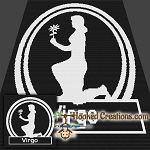Virgo SC (Single Crochet) Throw Sized Blanket Graphghan Crochet Pattern - PDF Download