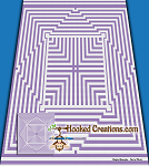 Warped C2C (Corner to Corner) Queen Blanket Graphghan Crochet Pattern - PDF Download