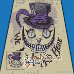 We Are All Mad Here SC (Single Crochet) Throw Blanket Graphghan Crochet Pattern - PDF Download