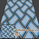 Weaved TSS (Tunisian Simple Stitch)-Right Handed Throw Blanket Graphghan Crochet Pattern - PDF Download