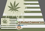 Weed Flag SC (Single Crochet) Twin Blanket Graphghan Crochet Pattern - PDF Download