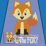What The Fox? SC (Single Crochet) Throw Blanket Graphghan Crochet Pattern - PDF Download