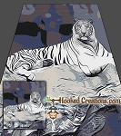 White Tiger SC (Single Crochet) Full Size Blanket Graphghan Crochet Pattern - PDF Download