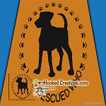 Who Rescued Who SC (Single Crochet) Throw Blanket Graphghan Crochet Pattern - PDF Download