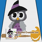 Witchy Owl SC (Single Crochet) Throw Blanket Graphghan Crochet Pattern - PDF Download