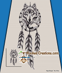 Wolf Catcher SC (Single Crochet) Throw Blanket Graphghan Crochet Pattern - PDF Download