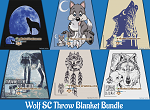 Wolf SC (Single Crochet) Throw Blanket Bundle Graphghan Crochet Patterns - PDF Download