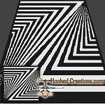 Zebra Crossing SC (Single Crochet)Throw Sized Blanket Graphghan Crochet Pattern