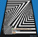 Zebra Crossing SC (Single Crochet)Throw Sized Blanket Graphghan Crochet Pattern - PDF Download
