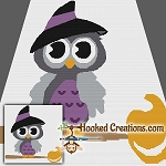 Witchy Owl SC (Single Crochet) Throw Blanket Graphghan Crochet Pattern