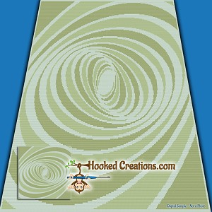 A Twisted Tunnel SC (Single Crochet) Throw Blanket Graphghan Crochet Pattern - PDF Download