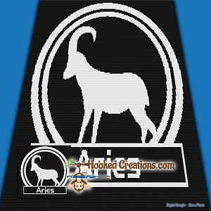 Aries SC (Single Crochet) Throw Sized Blanket Graphghan Crochet Pattern