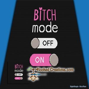 Bitch Mode SC (Single Crochet) Throw Size Blanket Graphghan Crochet Pattern - PDF Download