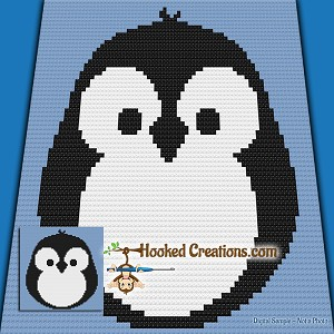 Chubby Little Penguin Mini C2c Baby Blanket Crochet Pattern Pdf