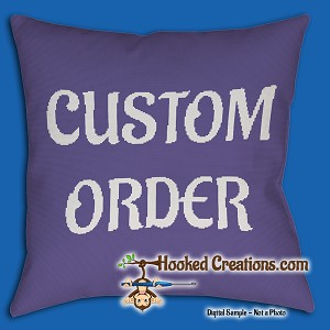 Custom Pillow SC (Single Crochet) - made from a simple illustration or cartoon - NO PHOTOGRAPHS Graphghan Crochet Pattern - PDF Download