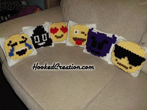Emoji Popcorn Pillows Crochet Pattern