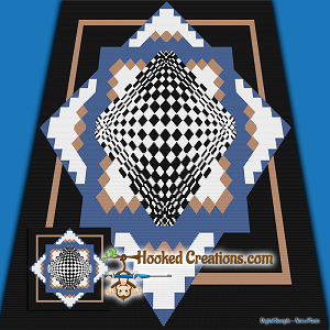 Dimensions SC (Single Crochet) Throw Blanket Graphghan Crochet Pattern - PDF Download