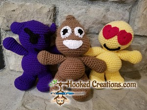 Emoji Dudes Crochet Pattern - Amigurumi - PDF Download