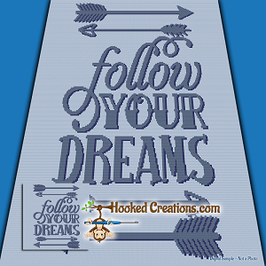 Follow Your Dreams SC (Single Crochet) Throw Blanket Graphghan Crochet Pattern