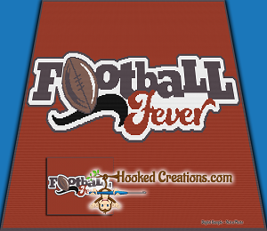 Football Fever SC (Single Crochet) Throw Blanket Graphghan Crochet Pattern - PDF Download
