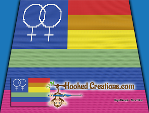 Gay Pride Flag Female C2C (Corner to Corner) Twin Sized Graphghan Crochet  Pattern - PDF Download