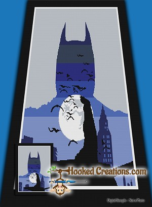 Gotham City SC (Single Crochet) Twin Blanket Graphghan Crochet Pattern - PDF Download