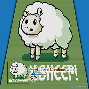 Holy Sheep SC (Single Crochet) Throw Blanket Graphghan Crochet Pattern - PDF Download