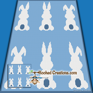 Hop Along SC (Single Crochet) Baby Blanket Graphghan Crochet Pattern - PDF Download