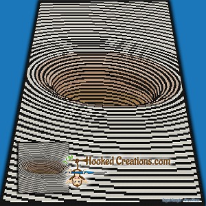 Journey to the Center SC (Single Crochet) Throw Blanket Graphghan Crochet Pattern - PDF Download