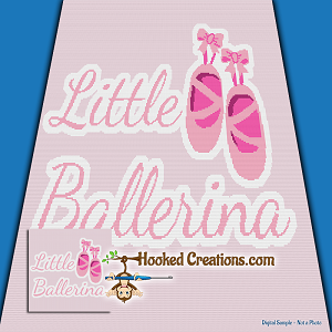 Little Ballerina SC (Single Crochet) Throw Blanket Graphghan Crochet Pattern - PDF Download