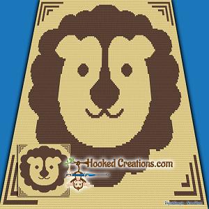 Little Lion Sc Single Crochet Baby Blanket Graphghan Crochet Pattern