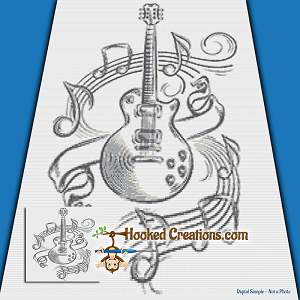 Music In My Soul SC (Single Crochet) Throw Blanket Graphghan Crochet Pattern - PDF Download