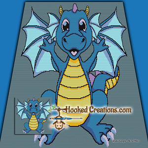 My Dragon Pal SC (Single Crochet) Throw Blanket Crochet Pattern