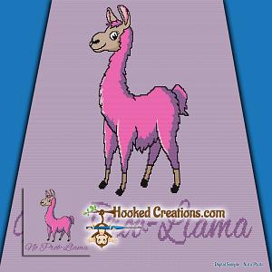 No Prob Llama Sc Throw Blanket Crochet Pattern Pdf Download