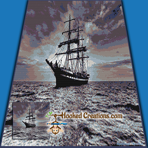 Open Sea SC (Single Crochet) Throw Blanket Graphghan Crochet Pattern