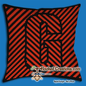 OPTICAL ALPHABET – G SC (Single Crochet) Throw Pillow Graphghan Crochet Pattern - PDF Download
