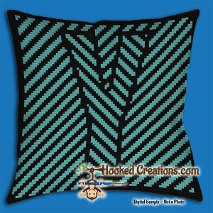 OPTICAL ALPHABET – Y SC (Single Crochet) Throw Pillow Graphghan Crochet Pattern - PDF Download