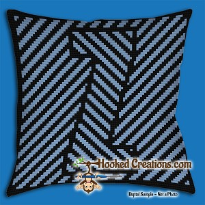 OPTICAL ALPHABET – Z SC (Single Crochet) Throw Pillow Graphghan Crochet Pattern - PDF Download