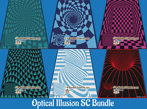 Optical Illusion SC (Single Crochet) Bundle Graphghan Crochet Patterns
