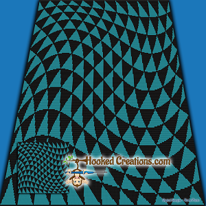 Optical Triangle SC (Single Crochet) Throw Blanket Graphghan Crochet Pattern - PDF Download
