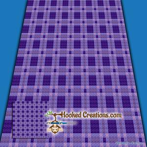 Plaid Baby Blanket - Purple C2C (Corner to Corner) Graphghan Crochet  Pattern - PDF Download