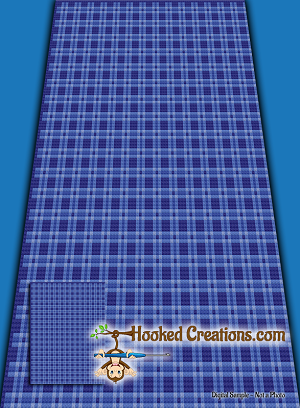 Blue Plaid C2C (Corner to Corner) Twin Blanket Crochet Pattern