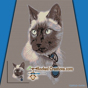 Siamese SC (Single Crochet) Throw Blanket Graphghan Crochet Pattern - PDF Download