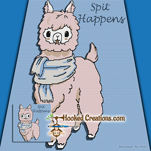 Spit Happens TSS  (Tunisian Simple Stitch) Right Handed Throw Blanket Graphghan Crochet Pattern - PDF Download